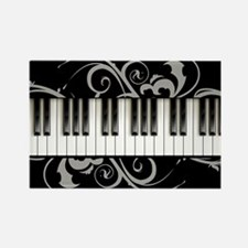 Piano Keyboard Rectangle Magnet