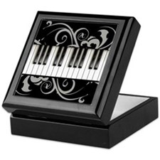 Piano Keyboard Keepsake Box