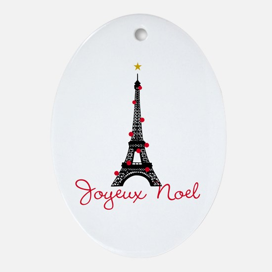 Paris Christmas Ornament (Oval)