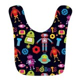 Kids robot Fleece Bibs