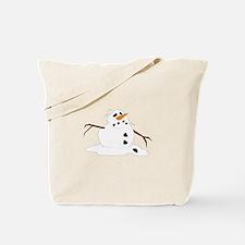 Snowman Melting Tote Bag