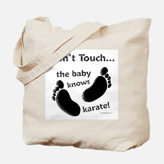 Karate Baby Black Tote Bag