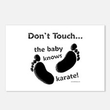 Karate Baby Black Postcards (Package of 8)