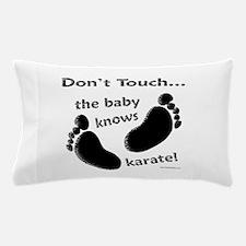 Karate Baby Black Pillow Case