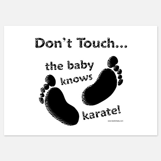 Karate Baby Black Invitations