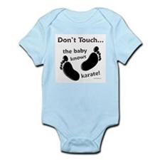 Karate Baby Black Infant Bodysuit