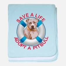 Life Preserver Fawn Pitbull baby blanket