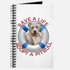 Life Preserver Fawn Pitbull Journal