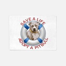 Life Preserver Fawn Pitbull 5'x7'Area Rug