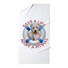 Life Preserver Fawn Pitbull Beach Towel