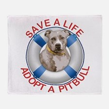 Life Preserver Fawn Pitbull Throw Blanket