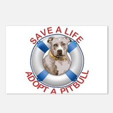 Life Preserver Fawn Pitbu Postcards (Package of 8)