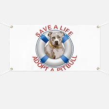 Life Preserver Fawn Pitbull Banner