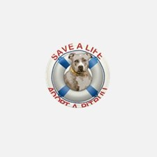 Life Preserver Fawn Pitbull Mini Button
