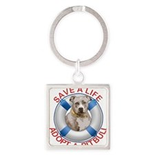 Life Preserver Fawn Pitbull Keychains