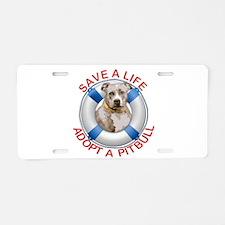 Life Preserver Fawn Pitbull Aluminum License Plate