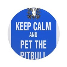kEEP cALM pITBULL Pet copy Ornament (Round)