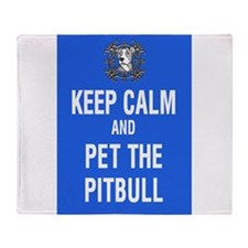 kEEP cALM pITBULL Pet copy Throw Blanket
