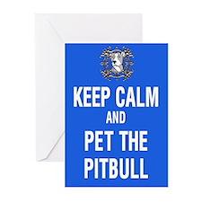 kEEP cALM pITBULL Pet copy Greeting Cards