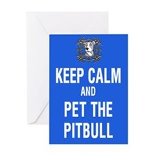 kEEP cALM pITBULL Pet copy Greeting Cards