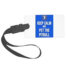kEEP cALM pITBULL Pet copy Luggage Tag