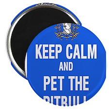 kEEP cALM pITBULL Pet copy Magnets