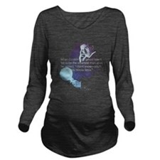 Tesla Einstein Quote Long Sleeve Maternity T-Shirt