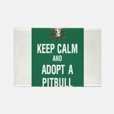kEEP cALM pITBULL Adopt copy Magnets