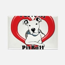 I love my Pitbull logo copy Magnets