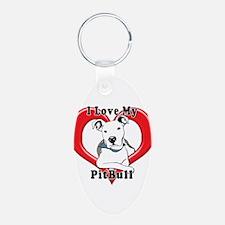 I love my Pitbull logo copy Keychains