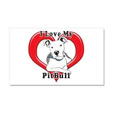 I love my Pitbull logo copy Car Magnet 20 x 12