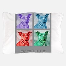 Homage to Warhol Pitbulls Pillow Case
