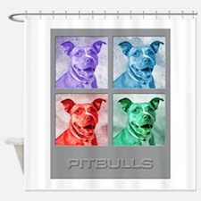 Homage to Warhol Pitbulls Shower Curtain