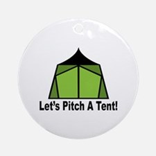 Pitch A Tent Ornament (Round)
