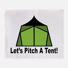 Pitch A Tent Throw Blanket