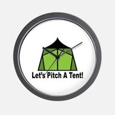 Pitch A Tent Wall Clock