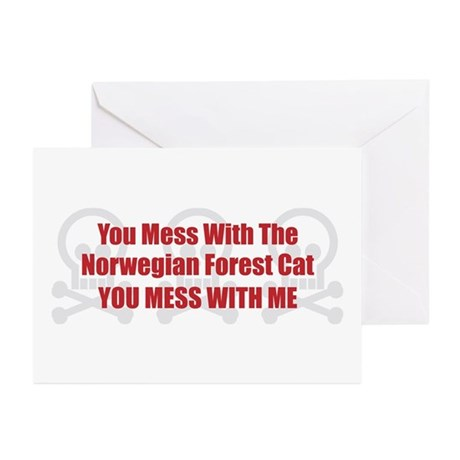 Mess With Wegie Greeting Cards (Pk of 10)