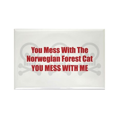 Mess With Wegie Rectangle Magnet (100 pack)