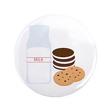 "Cookies Milk 3.5"" Button"
