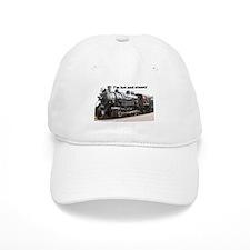 I'm hot and steamy: train engine, Arizona, USA Baseball Cap