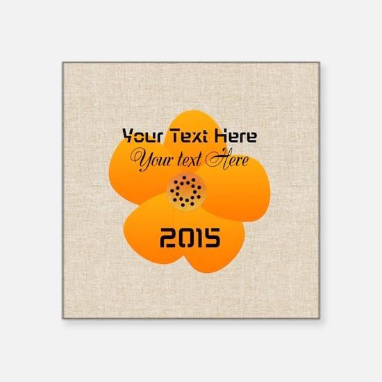 "Cute Bright Flower Square Sticker 3"" x 3"""