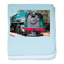 Steam train locomotive, Goolwa, South baby blanket