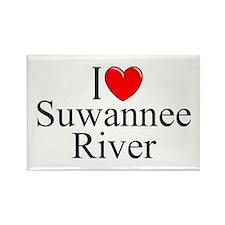 """""""I Love Suwannee River"""" Rectangle Magnet"""