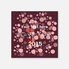 """Giving Thanks Cranberry Square Sticker 3"""" x 3"""""""
