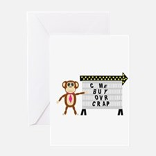The Monkey Needs Money! Greeting Cards