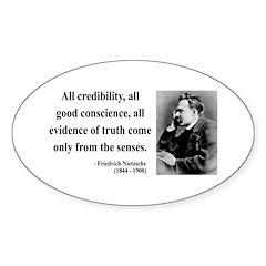 Nietzsche 27 Oval Decal