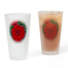 Dahlia 3 Drinking Glass