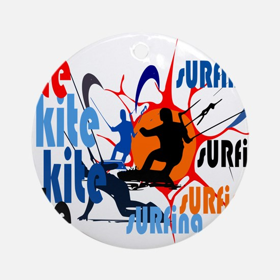 Kitesurfing Round Ornament