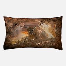 Mountain Lion Collage Pillow Case