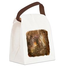 Mountain Lion Collage Canvas Lunch Bag